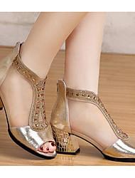 Mujer Sandalias Confort PU Verano Casual Dorado Negro 5 - 7 cms