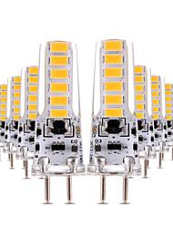 4W Luces LED de Doble Pin T 12 SMD 5730 300-400 lm Blanco Cálido Blanco Fresco Regulable Decorativa AC 12 V 10 piezas