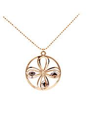 Women's Pendant Necklaces Rhinestone Circle MetallicUnique Design Pendant Tag Geometric Movie Jewelry Fashion Personalized Hypoallergenic