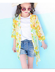 Girls' Floral Trench Coat