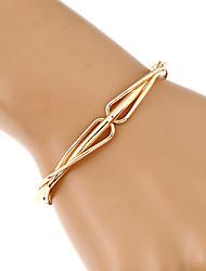 Women's Chain Bracelet Bangles Cuff Bracelet Handmade Fashion Hip-Hop Metal Alloy Gold Plated Metallic Geometric Irregular Jewelry For