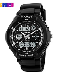 SKMEI 0931 Men Dual Display Wristwatches Digital Quartz Watch 50M Waterproof Fashion Outdoor Sports Watches