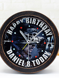 Modern/Contemporary Military Wall ClockRound Novelty Indoor Clock Creative Special Forces