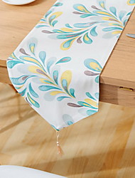 American Village Pastoral Double Side Print Cotton And Linen Table Flag 30*180cm