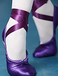 Femme Ballet Soie Tissu Plates Professionnel Violet Rouge Chair