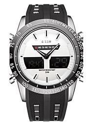 Hombre Reloj Deportivo Reloj de Moda Reloj de Pulsera Reloj creativo único Reloj Casual Chino Cuarzo Calendario Resistente al Agua Esfera