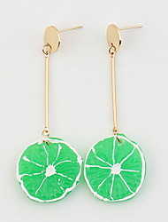 Drop Earrings Women's Personalized Adorable Simulation Lemon  Daily Party Graduation Gift Movie Jewelry