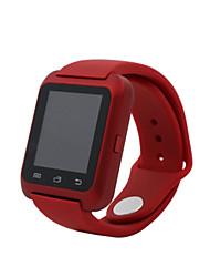 Homens Relógio de Moda Digital Impermeável Borracha Banda Preta Branco Vermelho