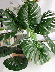1 Branch Artificial Green Leaves Monstera Spring