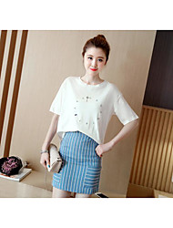 Women's Casual/Daily Mini Skirts A Line Striped Summer