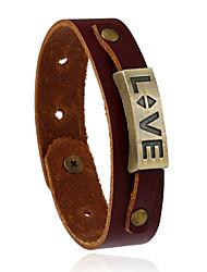 Retro All-Match Love Alloy Accessories Leather Bracelet