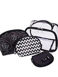 Women Storage Bag PVC All Seasons Casual Baguette Zipper Black