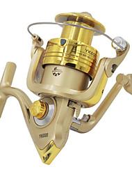 Reel Fishing Roulement Moulinet spinnerbaits 5.2:1 6 Roulements à billes EchangeablePêche d'eau douce Pêche au leurre Pêche générale