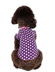 Hund T-shirt Hundekleidung Lässig/Alltäglich Polka Dots Purpur