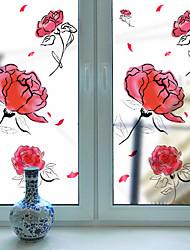 Window Film Window Decals Style Rose Grind Arenaceous PVC Window Film- (60 x 116)cm