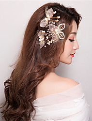 Imitation Pearl Headpiece-Wedding Special Occasion Birthday Party/ Evening Flower Hair Pins Hair Clip Hair Stick 3Piece/Set