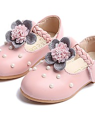 Girls' Sandals Flower Girl Shoes Sparkling Glitter Leatherette Fall Party & Evening Dress Flower Girl Shoes Hook & Loop Low HeelBlushing