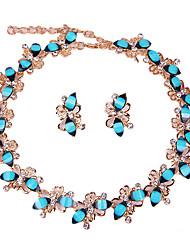 Mujer Juego de Joyas Collar / pulsera Los sistemas nupciales de la joyería Cristal Moda estilo de Bohemia Euramerican Clásico Brillantes