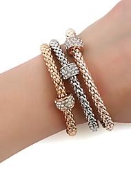 Femme Chaînes & Bracelets Charmes pour Bracelets Bracelets Mode Hip-Hop Gothique Alliage de métal Forme de Cercle Forme Géométrique Bijoux