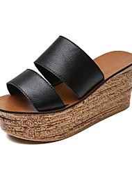 Для женщин Сандалии Классика Удобная обувь Мода Полиуретан Весна Лето Повседневные Для праздника На выход Классика Удобная обувь МодаНа