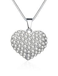 Women's Pendant Necklaces Crystal Cubic Zirconia Imitation Pearl AAA Cubic Zirconia HeartImitation Pearl Zircon Cubic Zirconia Silver