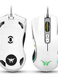CW10 4800 DPI Wired Gaming Mouse Mice 7 Buttons Design 6 Breathing LED Colors Changing High Precision for Gamer PC MAC