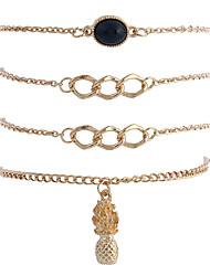 Femme Chaînes & Bracelets Charmes pour Bracelets Bracelets de rive Mode Style Punk Hip-Hop Pierre Gothique Alliage de métal Strass Alliage
