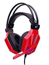 soyto SY850MV-R Bandeau Câblé Ecouteurs Dynamique Jeux Écouteur Stéréo Avec Microphone Avec contrôle du volume Casque