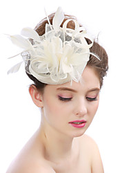 The Fashion Flower Feather Formal hat