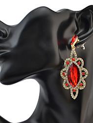 Mujer Pendientes colgantes CristalDiseño Básico Circular Diseño Único Colgante Diamantes Sintéticos Geométrico Amistad Euramerican Turco