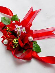 """Fleurs de mariage Petit bouquet de fleurs au poignet Cérémonie de mariage Mousseline de soie 3.15""""(Env.8cm)"""