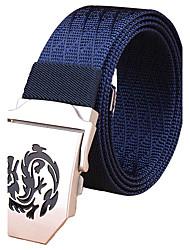 Hombre Color puro A Rayas Oficina/ Negocios Aleación Cinturón de Cintura,Sólido