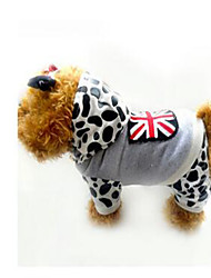 Cachorro Casacos Roupas para Cães Casual Leopardo Leopardo