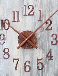 Rétro Horloge murale,Rond Nouveauté Intérieur Horloge