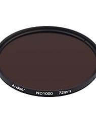 Andoer 72mm nd1000 10 stop fader filtro de densidad neutra para nikon canon dslr cámara