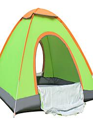 2 Personen Zelt Einzeln Falt-Zelt Einzimmer Camping Zelt 1000-1500 mm Terylen Silber BandBelüftung Schnelles Trocknung