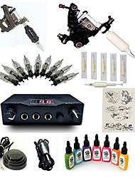 1 Set High Born Tattoo Kit H-G2A9A2 2 Machines  With 7x15ML Inks 5 Needles Power Supply Switch