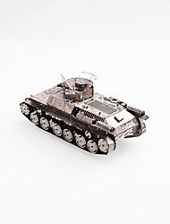 Jigsaw Puzzles Metal Puzzles Building Blocks DIY Toys Tank Chrome
