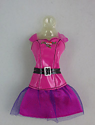 Fashion PU Dress For Barbie Doll For Girl's Doll Toy