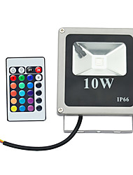 10W LED Floodlight 1 High Power LED 800 lm RGB Remote-Controlled AC 85-265 V