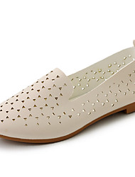 Women's Flats Comfort Light Soles PU Summer Casual Comfort Light Soles Beige White Flat