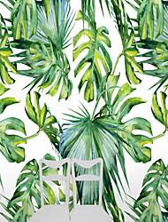 arbres/Feuilles Décoration artistique 3D Fond d'écran pour la maison Nouveauté Revêtement , Toile Matériel adhésif requis Mural , Couvre