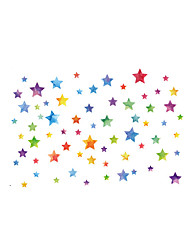 Wall Stickers Wall Decas Style Colour Star PVC Wall Stickers