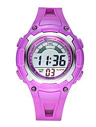 Kid's Sport Watch Fashion Watch Digital Water Resistant / Water Proof Rubber Band Blue Pink Purple