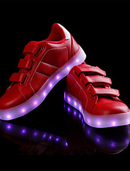 Girls' Sneakers Light Up Shoes Light Soles Customized Materials Spring Fall Casual Outdoor Magic Tape Walking Shoes