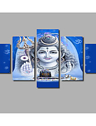 5 Piece Unframed Shiva India Lord Religion Buddha Canvas Art Painting Modern Artwork For Living Room Home Decor