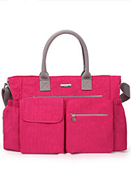 Unisex Functional Bags Nylon All Seasons Casual Rectangle Zipper Fuchsia