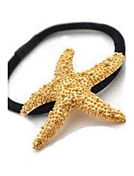 Hair Ties Golden Starfish Hair Bands Korea Headdress Girl Hair Jewelry Gift Beach