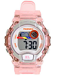 Kid's Sport Watch Fashion Watch Digital Water Resistant / Water Proof Noctilucent Rubber Band Black White Blue Pink Purple