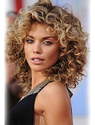 Bouncy Ebullient  Medium Long Curly Hair  Human Hair Wigs